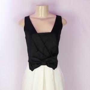 KAY UNGER BLACK/WHITE FULL SKIRT COCKTAIL DRESS 10